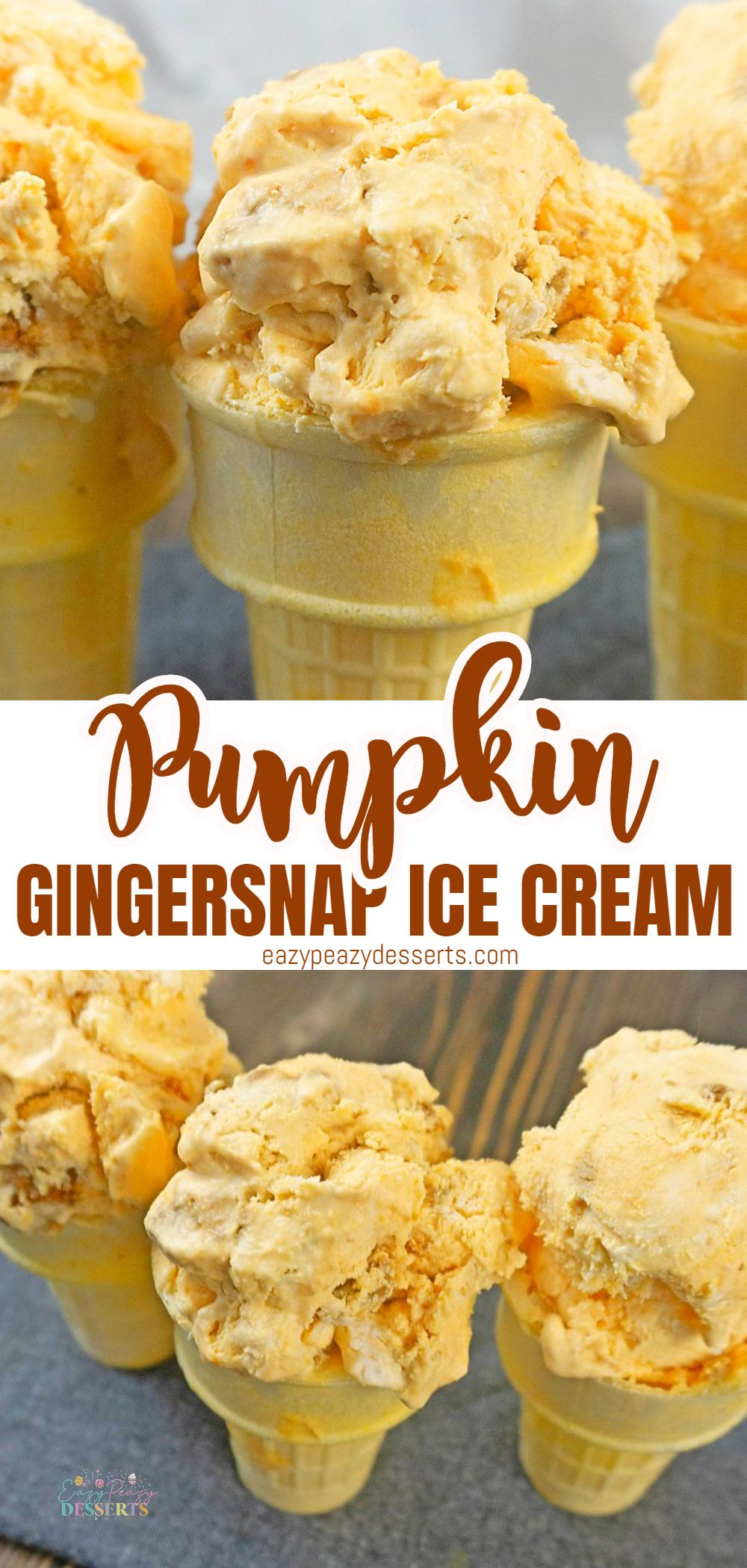 Whether you're in one of the ice cream capitols of the world (Hello Australia, Denmark, New Zealand, USA and Belgium!) or if you simply fancy something different, this pumpkin ice cream is going to tick all your boxes! via @eazypeazydesserts